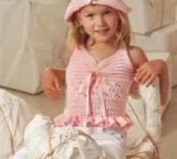 Розовый топик и шляпка своими руками