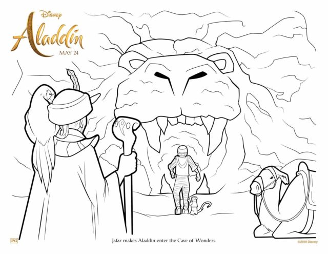 Aladdin Coloring Pages and Activity Sheets  Crazy Adventures in