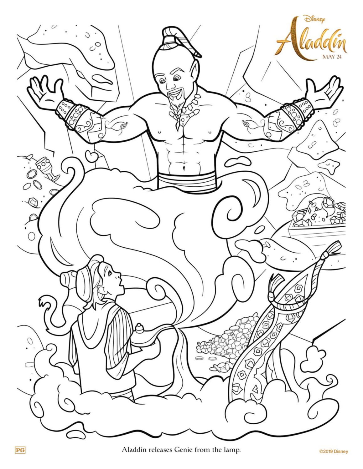 Aladdin Coloring Pages And Activity Sheets