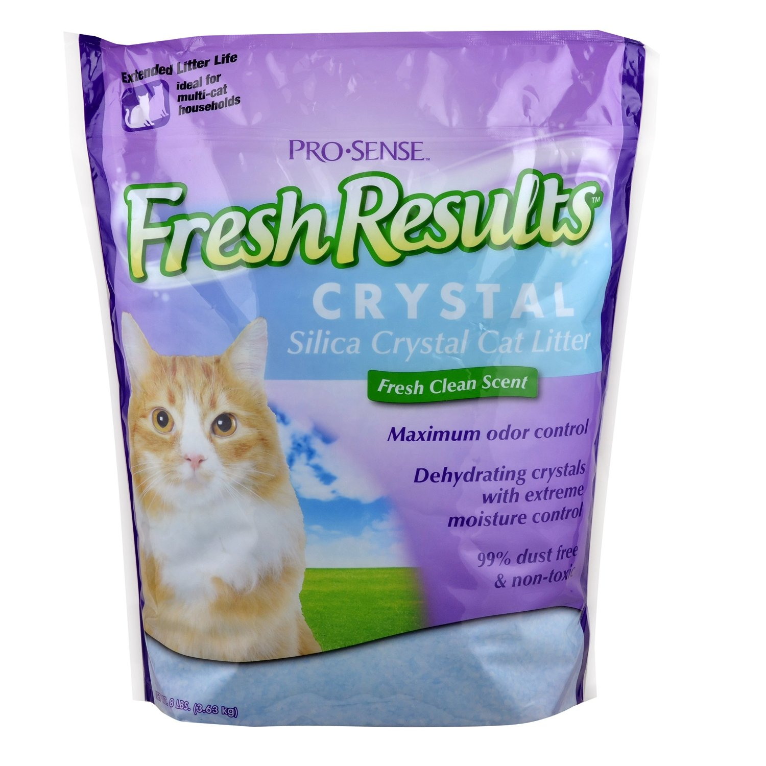 Pro Sense Fresh Results Crystal Silica Cat Litter 8 Pound Crazy Cat Lady Supplies