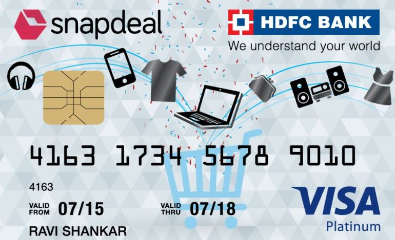 Snapdeal HDFC credit card