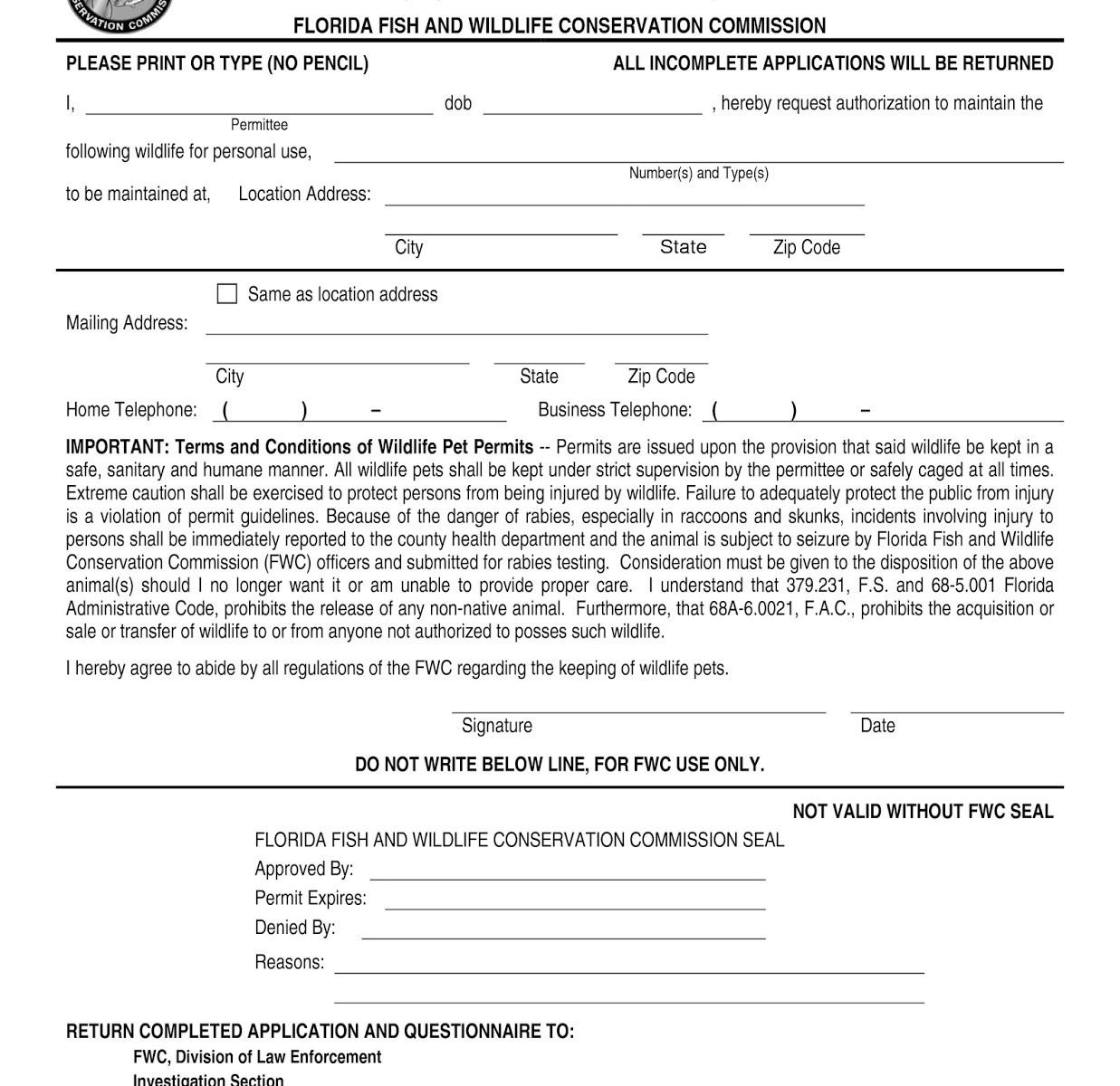 FWC Class III Permit Help