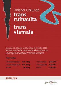 Finisher Urkunde Transruinaulta & Transviamala