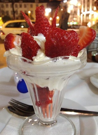 How about some strawberries and cream to go with?! The local strawberries were delicious!