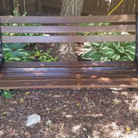Bringing an old bench back to life