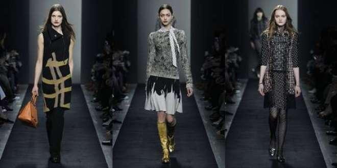 A silhueta é precisa. Calças são dominantes e refletem à coleção Outono-Inverno masculina.
