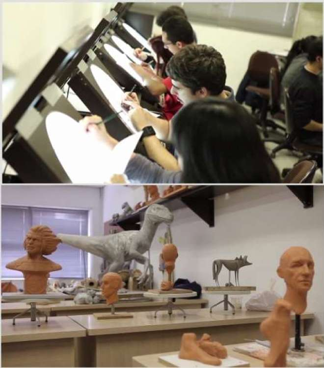 Fundada há 10 anos como Escola de Cinema, 3D e Animação,instituição recebeu autorização do Ministério da Educaçãopara oferecer curso superior que forma profissionais paratrabalhar com publicidade, cinema, TV e jogos digitais.