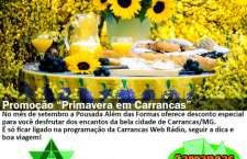 Aproveite esta super promoção de Primavera em Carrancas!