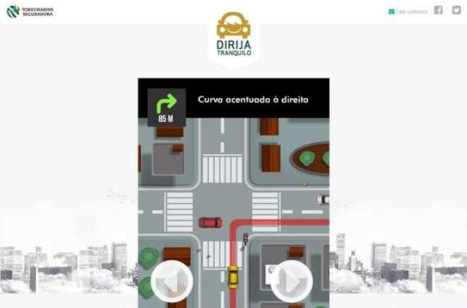 Seguradora criou hashtag #DirijaTranquilo e um jogo para engajar usuários das redes sociais.