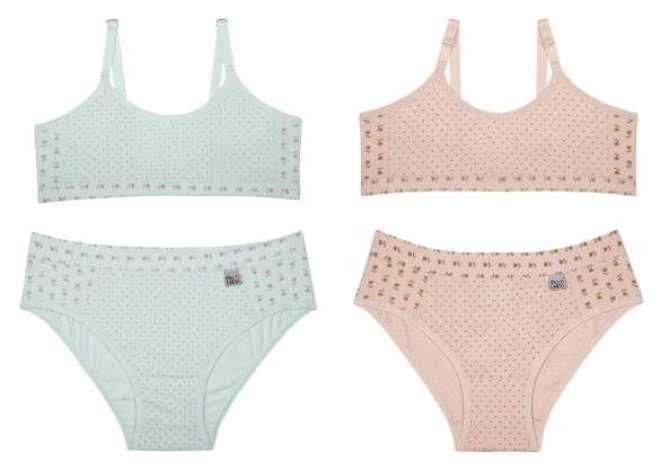 A marca que desenvolve underwear lindas e charmosas para garotinhas de 04 a 14 anos.