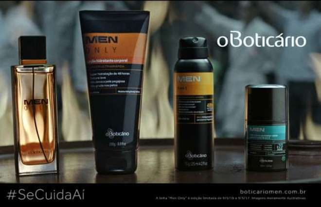 Na nova campanha, O Boticário divulga a linha de produtos O Boticário MEN, feita especialmente para eles.