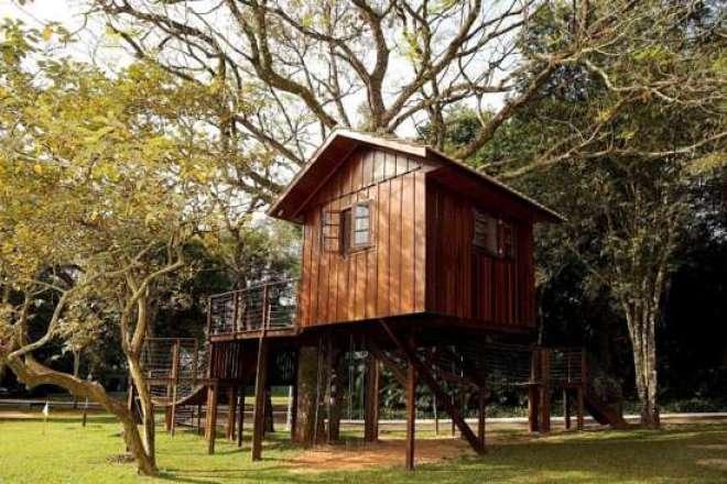 Segurança e diversão garantida para os pequenos: a Casa da Árvore é outra das atrações do SportsPark.