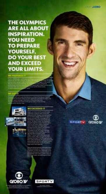 Michael Phelps deve destinar parte do cachê para uma ONG no Brasil.