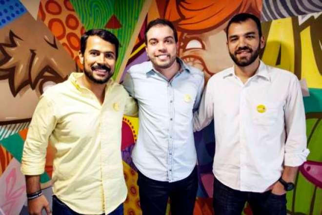 Pedro, Herivelton e Thiago, desenvolvedores do aplicativo AulaUP.
