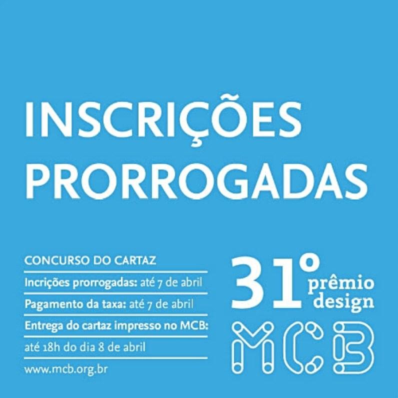 O Concurso do Cartaz é o pontapé inicial para a 31ª edição do Prêmio Design MCB.