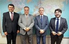 Tufi Michreff, Walter Vasconcelos, Marcelo Costa (chefe de Gabinete) e Gilson Lira (diretor de Inteligência Competitiva e Promoção Turística.
