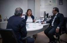 Presidente do Instituto recebe secretários do governo do estado para discutir ideias para promoçãoturísticada região e do Pantanal no exterior.