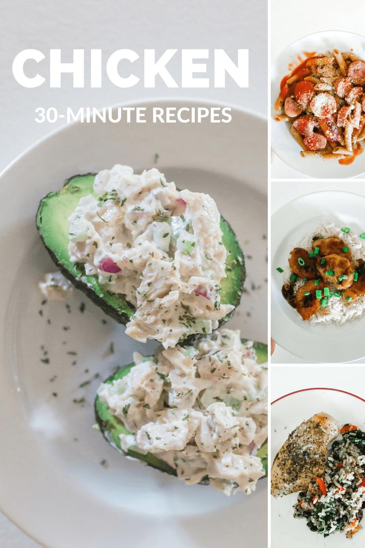 easy weeknight chicken recipes, weeknight dinner, semi-homemade family dinner, dinner in under 20 minutes, 30 minute meals, chicken recipes