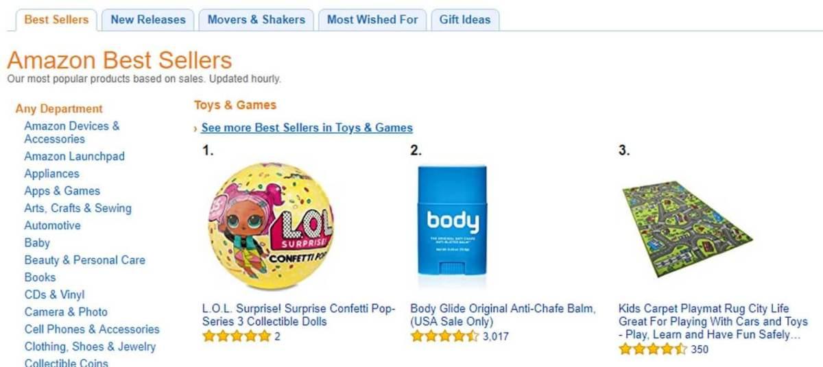 amazon top sold items