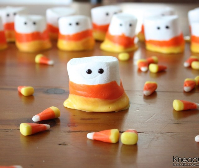 Candy Corn Marshmallow People Easy Candy Corn Projects Halloween Coloring Pages