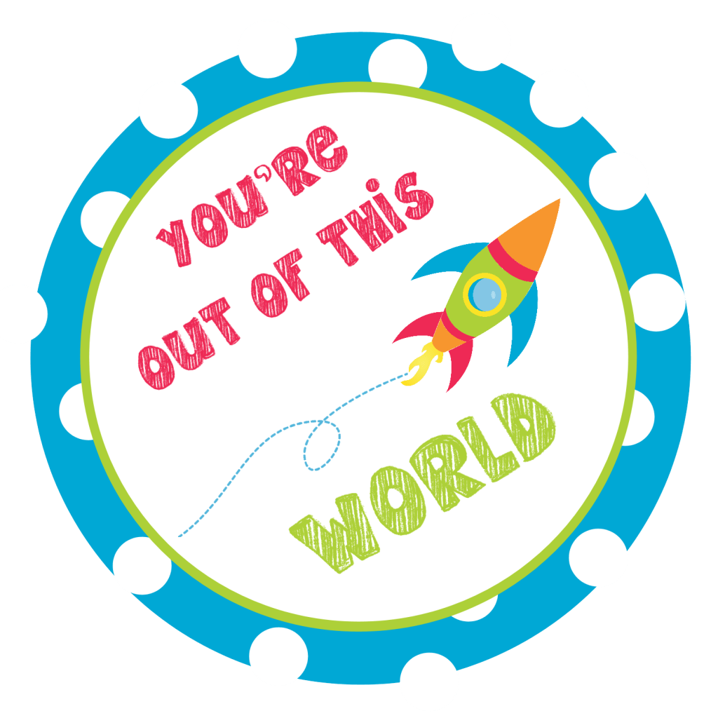Free Printable Outer Space Valentines
