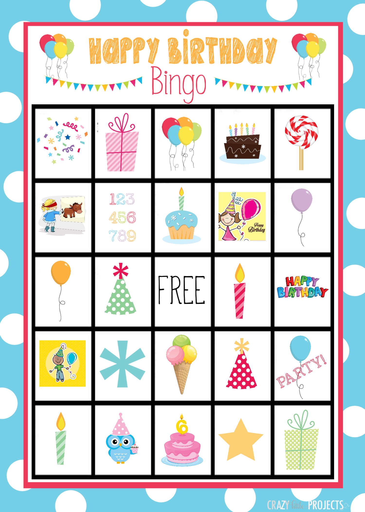 Birthday Bingo Cards