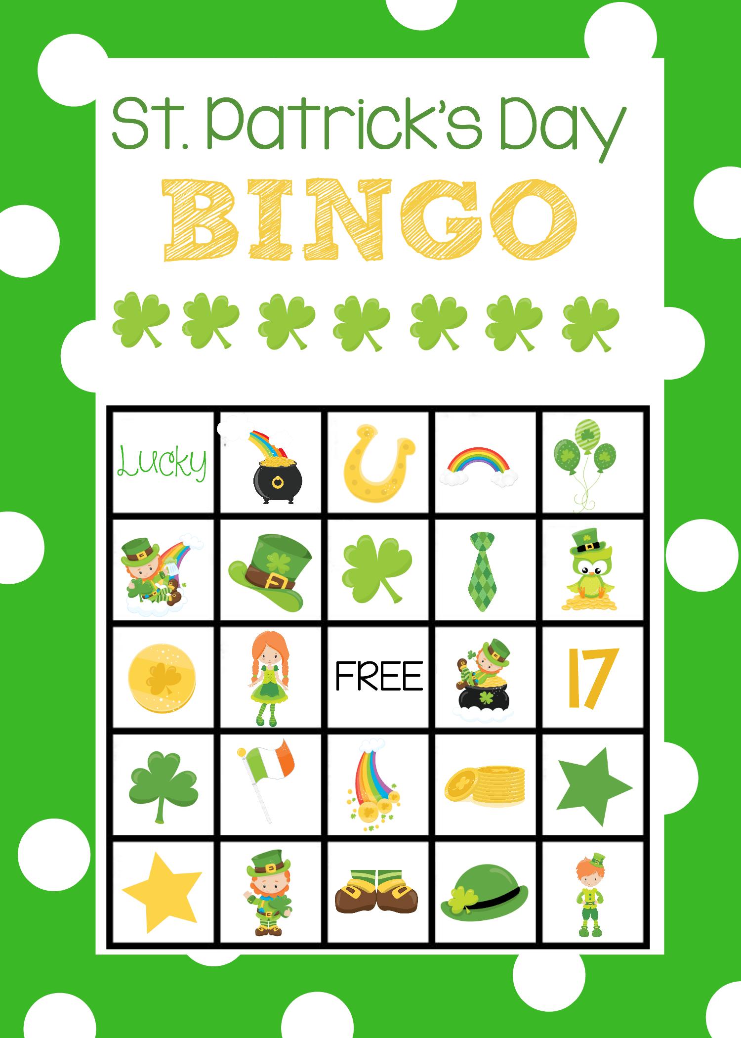 St Patrick S Bingo Cards