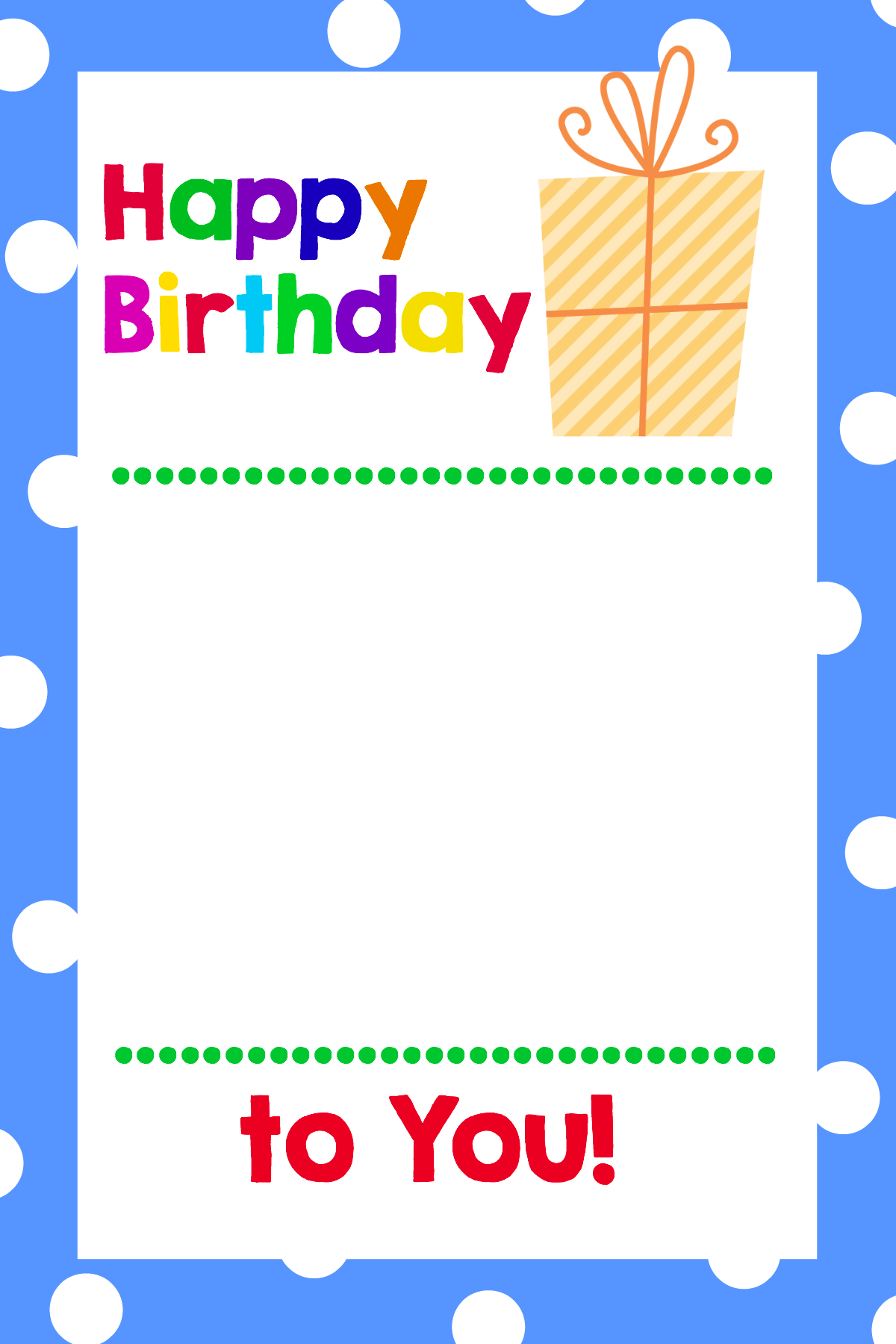 Printable Birthday T Card Holders
