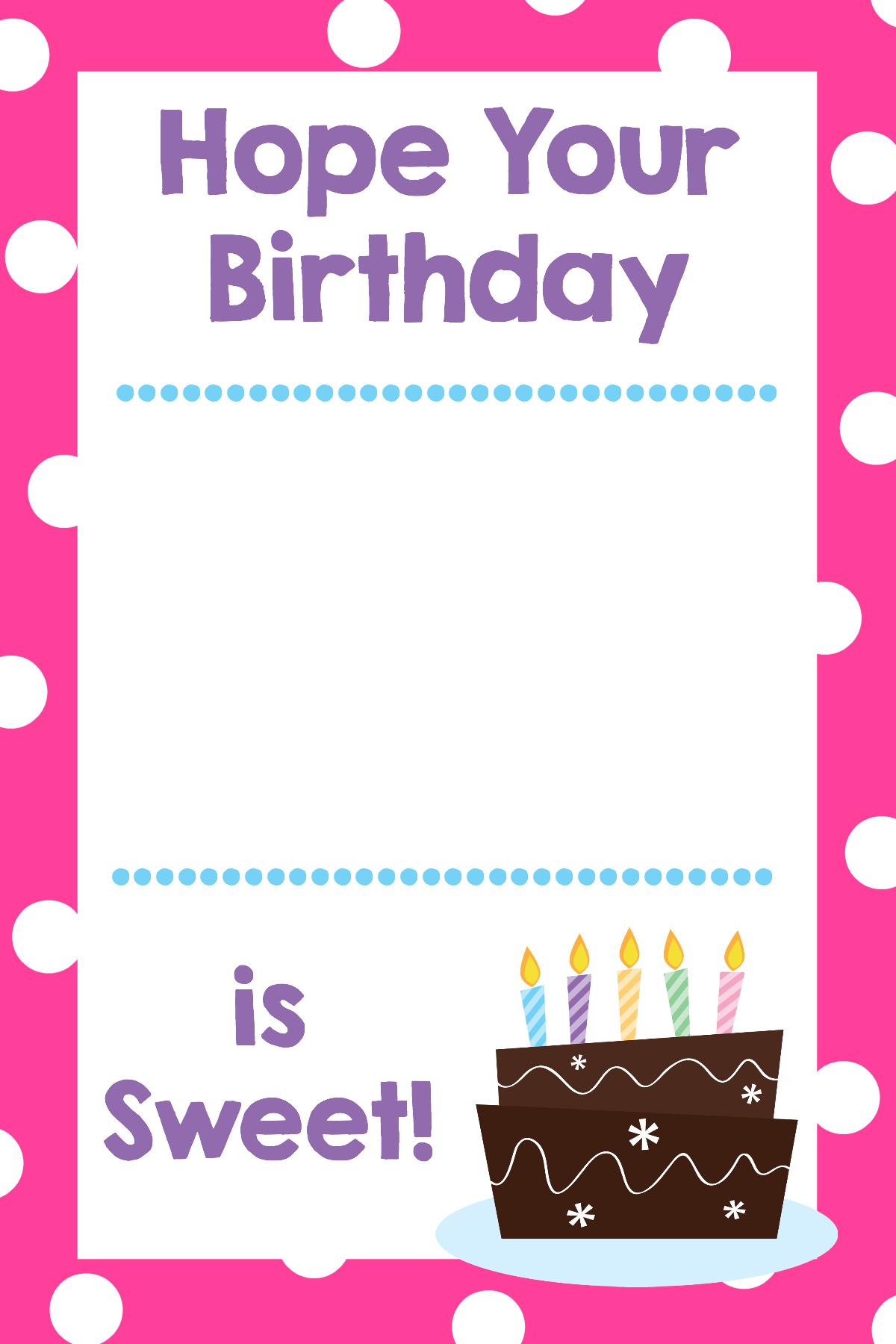 Printable Birthday T Card Holders