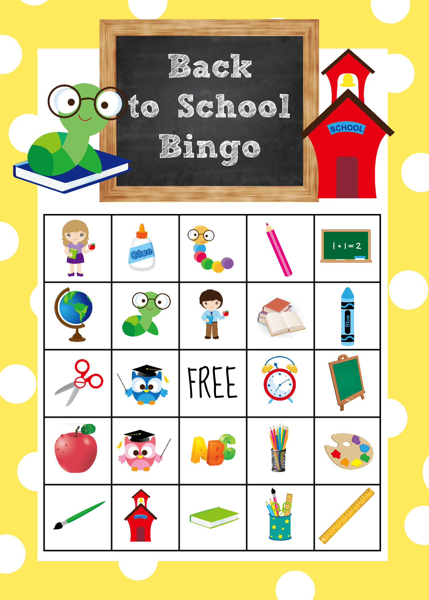 Back To School Bingo Game To Print Amp Play
