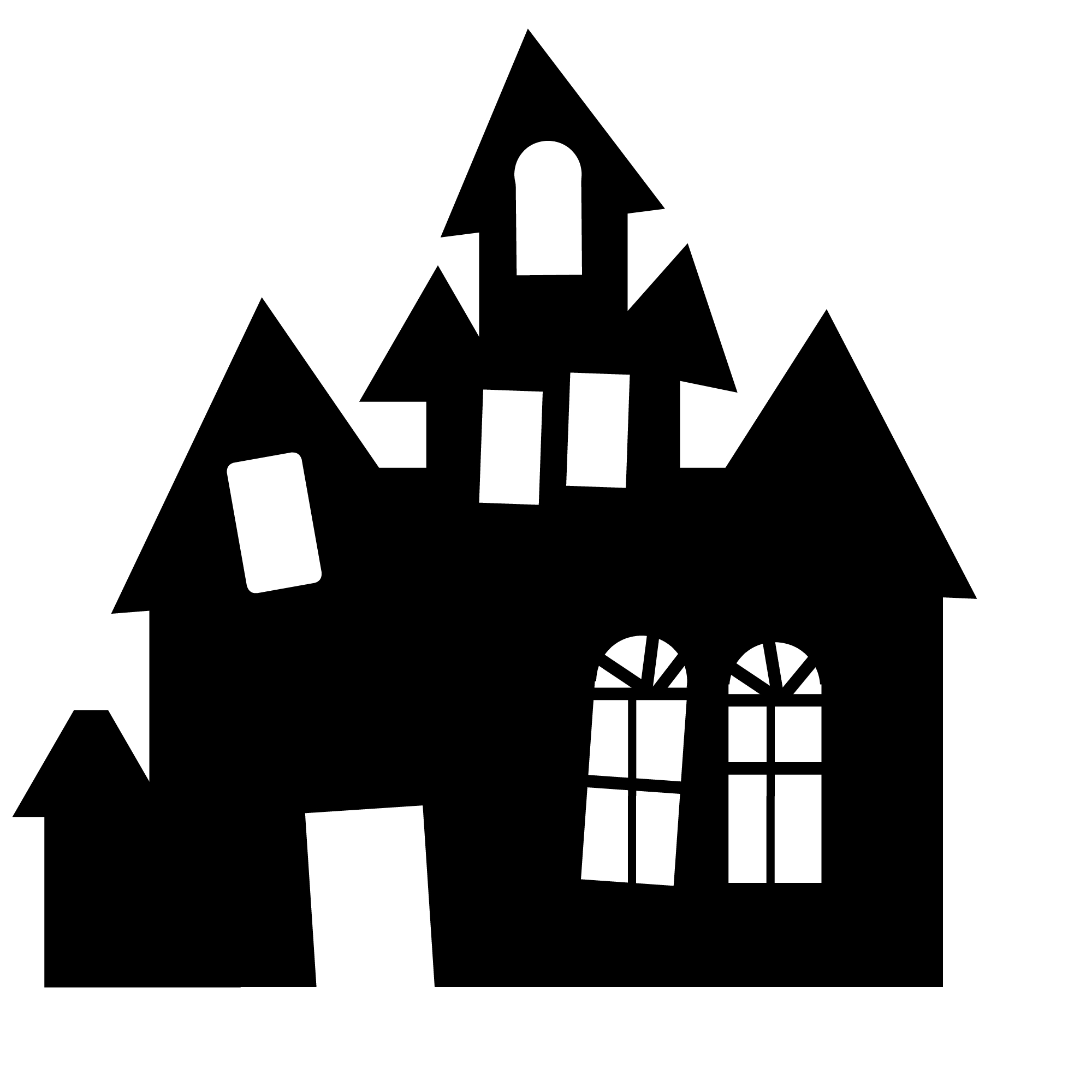 Hauntedhousesilhouette