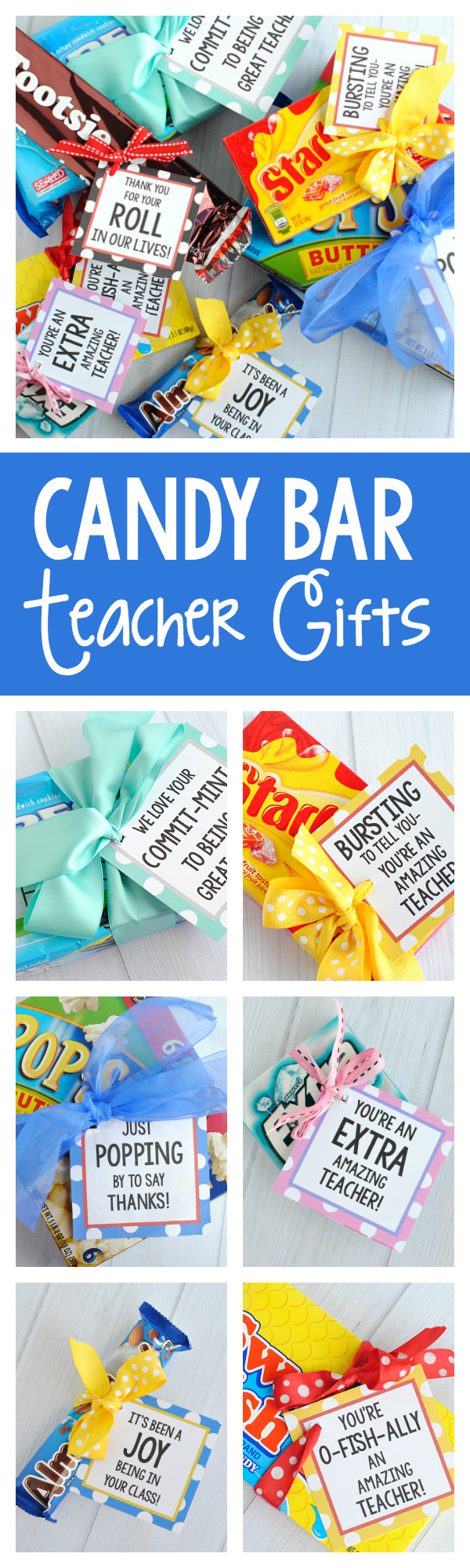 Teacher Appreciation Gifts-Candy Bar Gift Tags to Say Thank You to Your Teacher #teacherappreciation #teacherappreciationgifts #teacherappreciationweekideas #teacherappreciationweek