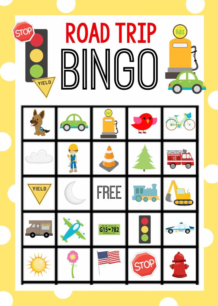 Printable Road Trip Bingo Game For Kids Crazy Little Projects