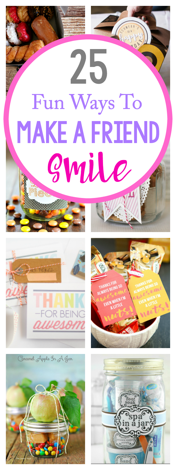 Just Because Gifts for Friends-Everything from birthdays to thank you gifts and great just because gift ideas to brighten your friend's day!