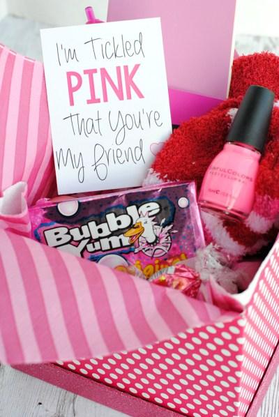 Color Themed Gifts Pink Box Bubble Yum Nail Polish Gift Ideas