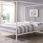 Chalfont White Four Poster Metal Bed Frame Single Small Double Double King Sizes Crazypricebeds Com