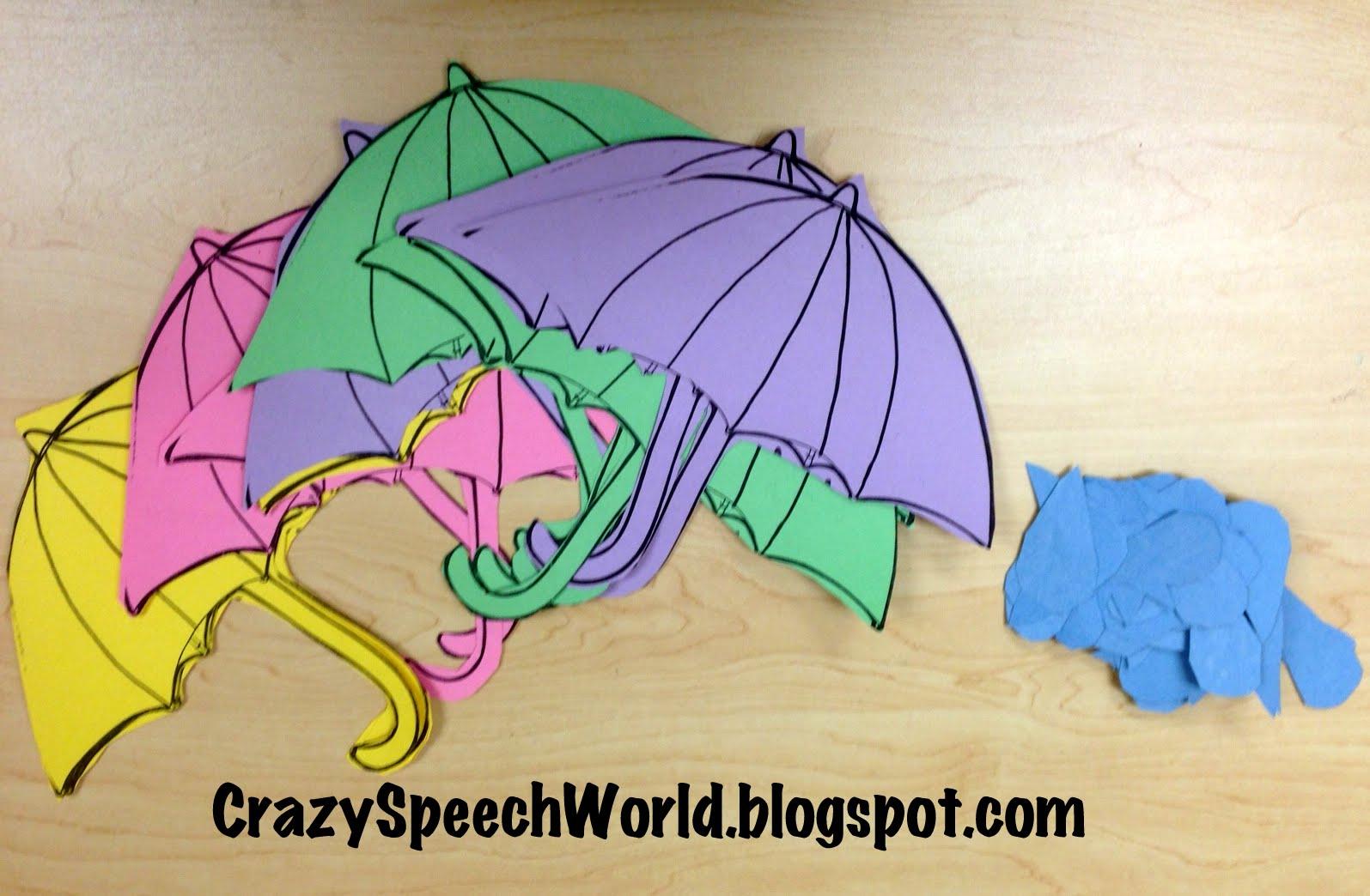 Umbrella With Raindrops Spring T Preschool Crafts And