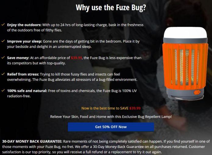 FuzeBug Mosquito Killer