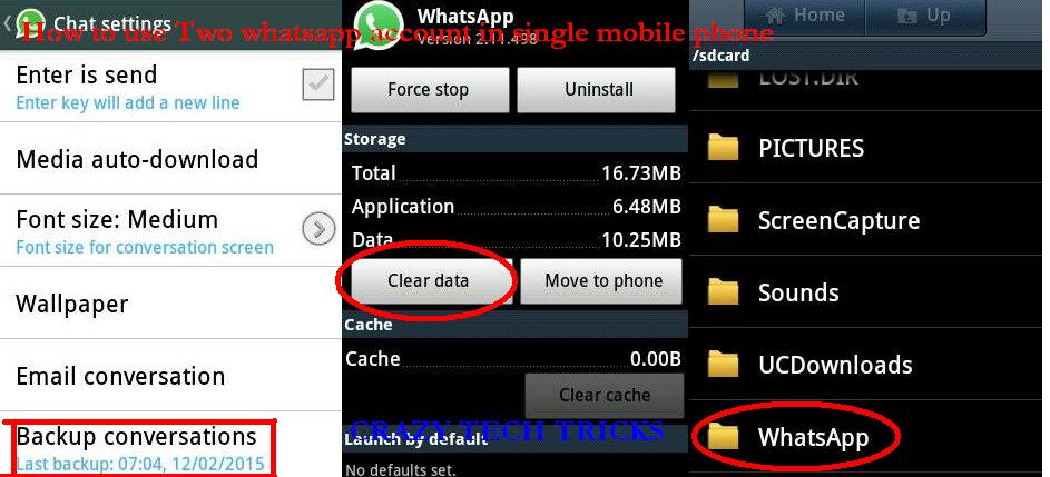 use two whatsapp account in one mobile phone