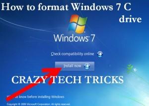 format Windows 7 C drive