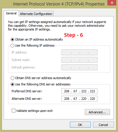 Change preferred and alternate dns server to increase the speed of your internet