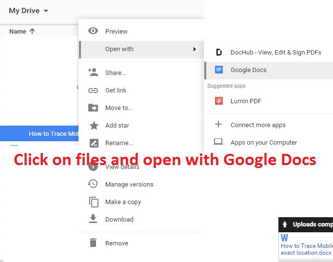 click on file and open with google docs