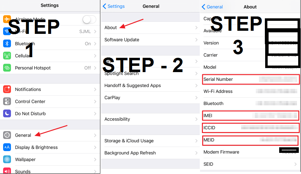 How to Check IMEI number of iPhone and Find Serial Number, ICCID, MEID of your iOS Device - Easy Method