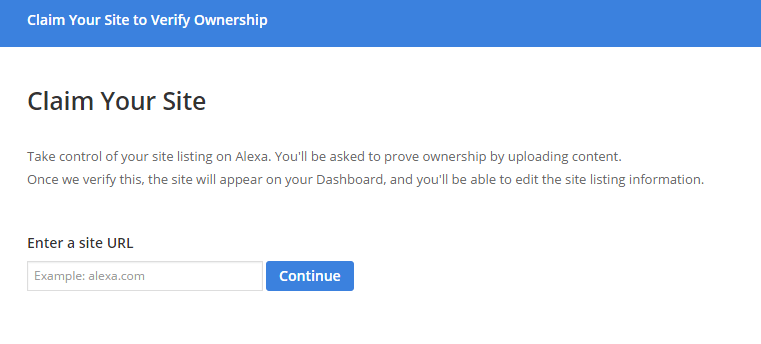 How to Verify your Website from Alexa or Claim your Site from Alexa