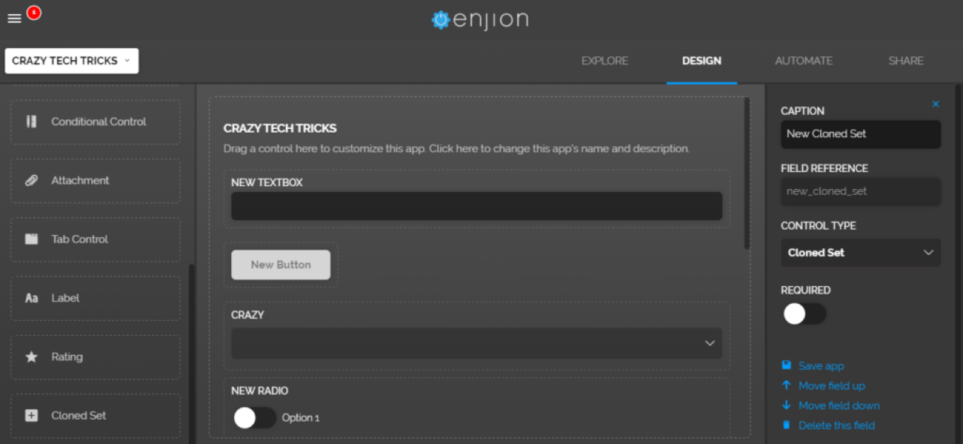 Enjion Create Your Online App In Few Seconds Free