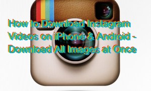 How to Download Instagram Videos on iPhone & Android – Download All Images at Once