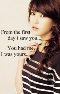 first day i saw you