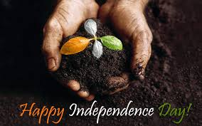 happy independence day with plant