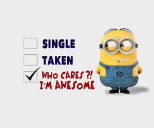 popular whatsapp dp-single,taken, who care im awsome