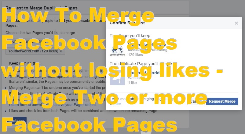 How To Merge Facebook Pages without losing likes - Merge Two or more Facebook Pages